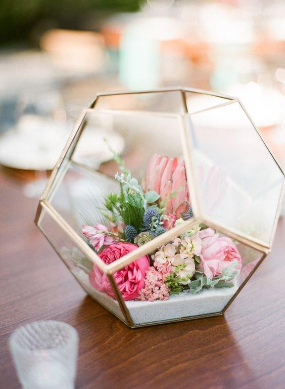 6b3f2d2d8f A geometria dicsérete – üvegbe zárt esküvői asztaldísz-csodák ...